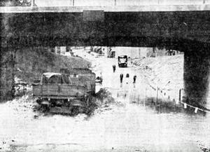 Fyra dagar efter invigningen 1965 var det dags för första översvämningen.