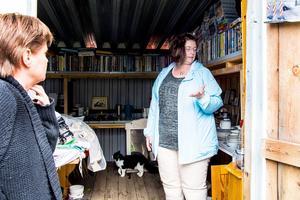 Annelie Westerlund uppskattar att Anki Berglund besöker hennes mamma.