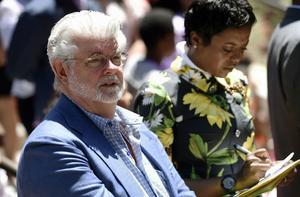 George Lucas tillsammans med sin hustru Mellody Hobson i juni 2017.
