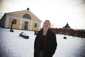 Linda Forss undervisar ekoingenjörstudenterna på Mittuniversitetet.