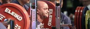 Styrkelyft-EM är igång och en av de första som tävlade var fransmannen Frederic Tinebra. FOTO: LENNART LJUNG