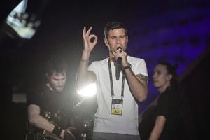 Repetition med bidrag 1, Robin Bengtsson – I Can't Go On inför Melodifestivalens tredje deltävling.