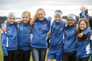 IFK Timrås Maja Berglund, Matilda Strid, Nellie Wiklander, Tea Månsson, Paula Gonzales och Elsa Vähäsalo trivdes på Fagerviksfältet.