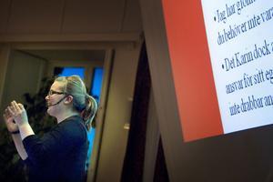 Karin Willing Ljungberg berättade att hon i dag tycker om att plugga och att det känns helt otroligt.