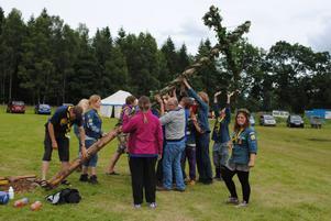 Det var många scouter från olika länder som kom för att smaka på den svenska maten.