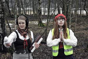 Skådespelerskorna och manusförfattarna Linnea Nygren och Alice Andersson. Foto: Gabriel Hellqvist