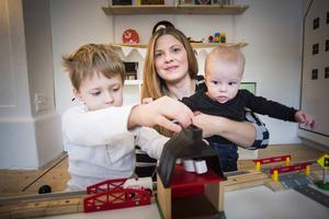 Madelene Sundqvist när ST gjorde ett reportage i Leo och Noas barnrum för drygt ett år sedan.