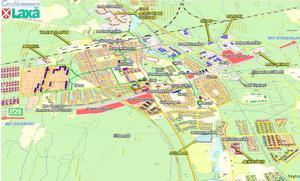 Etableringskarta. Det här är Laxå kommuns karta som visar vilka områden som kan bli aktuella för etablering längs E 20. De rödmarkerade områdena visar etableringsplatserna. Karta: Laxå kommun