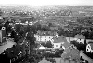 OP-skolan. Bilden tagen från norra vattentornet