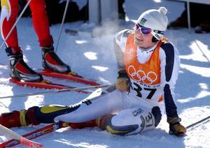 2002 tävlade Anna Carin Zidek i längd. Bildtexten från OS 15 km: