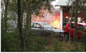 Flera av uthusen på gården gick förlorade i branden.Foto: KARIN SUNDIN
