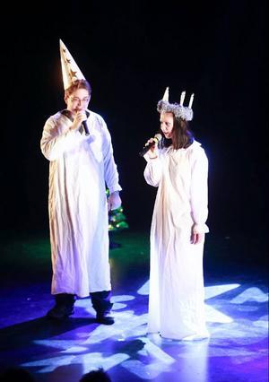 Lucia var representerad på julshowen.