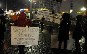 Demonstration 2009 mot kvinnovåldet. Foto: BERTIL ERICSON / TT