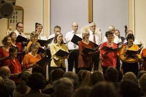 Hudiksvalls kammarkör sjöng i Baptistkyrkan på söndagen.
