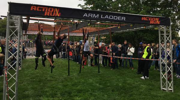 Ungefär 1400 personer deltog i årets upplaga av Action run.