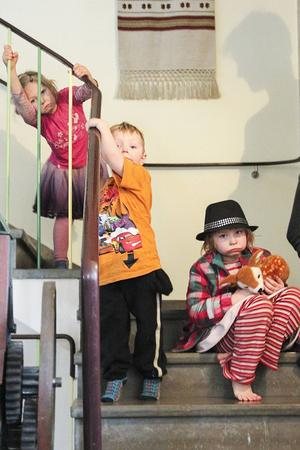 Moa, Matilda och Leo Sjödin väntade på storasyster Molly när hon gjorde sin audition.