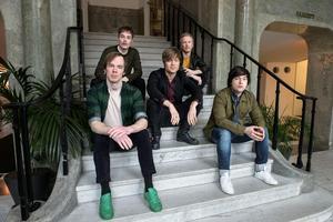 Från vänster: Daniel Haglund, Jens Siverstedt, Björn Dixgård, Patrik Heikinpieti och Carl-Johan Fogelklou. Bild: TT.