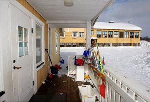 Förskolan och skolan i Laxsjö där kommunen har uppmätt höga värden av radon.