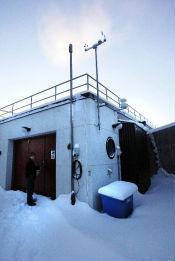 Nu sprutar kanonerna snö på Nydala.