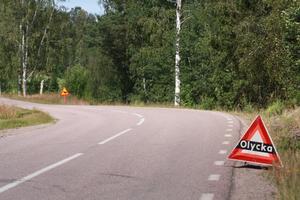 Vägen var avstängd under en kort tid efter olyckan.