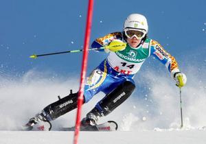 Therese Borssén gjorde sitt bästa resultat i år i världscupen vid finalerna i Åre och slutade på delad tredjeplats.