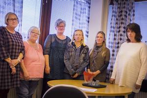 Marlene Söderholm, Berit Forss, Barbro Andersson, Annki Edlund, Anna Ekengren och Vivian Roos var några av deltagarna under mötet.