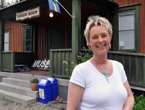 Lotta Jonsson hoppas kunna klara verksamheten vid Kraftverksmuséet i Krångede i sommar.