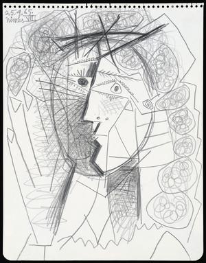 """""""Tete de femme"""" av Picasso."""