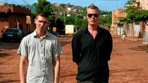 Markus Allard och Axel Frick från Ung Vänster i Örebro län under en resa till Mali i år. De har båda uttalat sitt stöd för organisationen Revolutionära fronten.