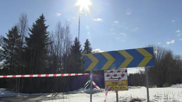 Arkivbild. Avstängt vid Brattåsmasten när en staglina gick av i april 2016.