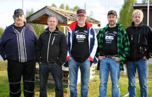 Lars-Göran Leksell, Sören Matsson, Bengt Thomasson, Bo Thorildsson och Göran Lissjos planerade Västerdalsträffen.