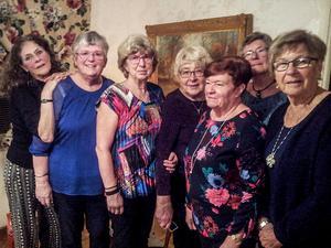Fr.v. Bitte Häggkvist, Birgitta Wessbladh, Solveig Norell, Ulla Höglund, Birgitta Nylén, Pia Persson-Jonsson och Elisabet Tjernberg har varit vänner i över 40 år.