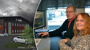 Syskonen Peter Hörnell och Anna Vesterlund räknar med att satsningen på den nya fastigheten kommer att kosta omkring 15 miljoner kronor.