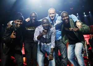 Panetoz under torsdagens repetitioner inför Melodifestivalens andra deltävling i Linköping.