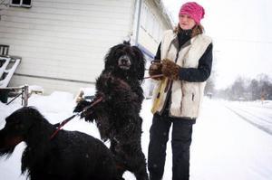 """Anci Forselius var arbetslös och tänkte att hon var tvungen att hitta på något. Hon läste en artikel om Dogwalking i Hundsport förra veckan och nu har hon precis startat upp verksamheten i Östersund/Frösön.""""Dogwalking finns i hela landet så jag bestämde mig för att pröva. Jag gillar ju hundar"""", säger hon."""