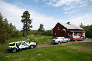 Brottsplatsen för dubbelmordet i Brattås utanför Härnösand i maj 2011.
