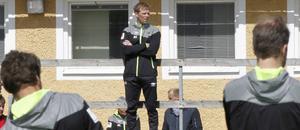 Roger Sandberg under onsdagens träning på Brynäsvallen.
