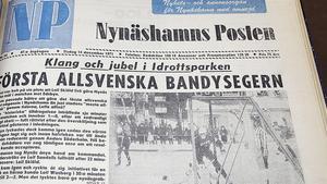 Seger. NP:s förstasida den 14 december 1971 efter att NIF tagit sin första tvåpoängare i bandyns division 1, eller allsvenskan, som tidningen kallade serien.