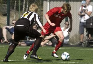 Viktor Roos gjorde Arbrås enda mål (på straff) i premiären mot Ljusne