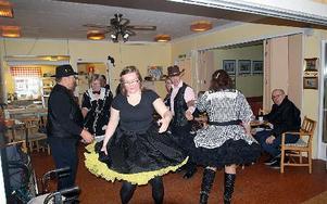 Det var troligen första gången i Solgärdets histora som det bjöds på en uppvisning i Square dance.