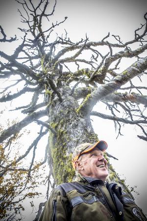 Egentligen är han arg och stridslysten, men han ler på bilden. Tommy Hegestrand kräver 72 miljoner kronor för sin tvångsinlösta skog.