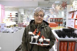 Margareta Sjöblom hittade en ljusstake med tomtar.