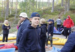 Noah Dahlström från klass 9 har varit med under alla tre åren som Arenaskolans elever besökt Stor Skälsjön.
