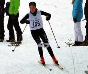 Caroline Nilsson, Offerdal, var en av många duktiga åkare i D13.