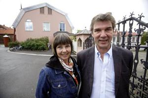 Jamtlis ordförande Lena Bäckelin och hennes styrelse vill liksom Henrik Zipsane bygga Nationalmuseum Norr här vid infarten.