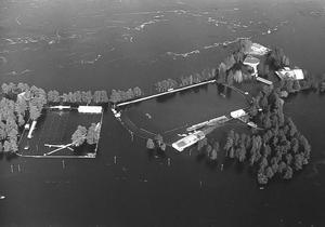 Hela Långnäsudden översvämmades.