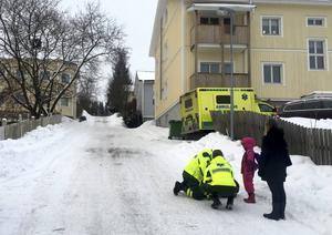På Södermalm i Sundsvall inträffade en halkincident under tisdagsmorgonen.