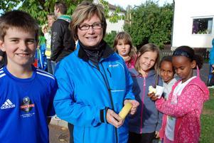 Läraren Agneta Carlsson berättade om skolans Hälsovecka.