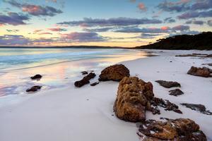 Sanden på Hyams Beach i australiensiska Jervis Bay är så vit att den får vara med i Guinness rekordbok.