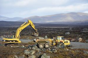 Bild från 2015 när arbete utfördes i närheten av den gamla gruvan.